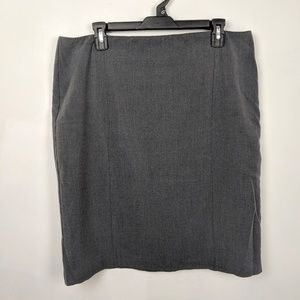 Charcoal Gray Pencil Skirt - Lined